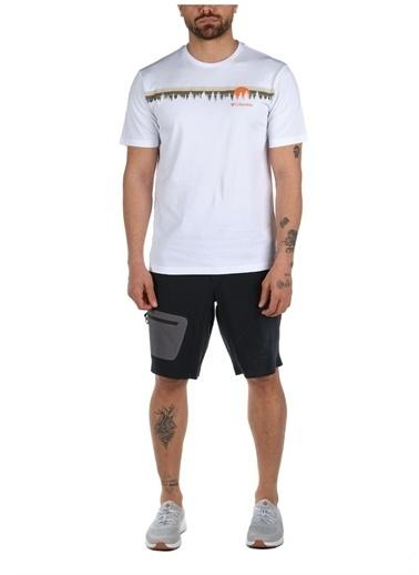 Columbia Colombia Erkek Beyaz Bisiklet Yaka T-Shirt Beyaz